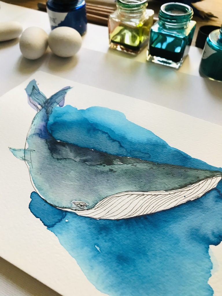 Whale painting Enikeoros Ionian Kind